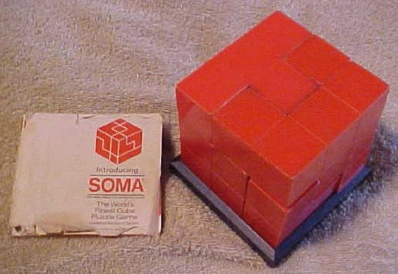 Soma Cube, red, Parker Bros., 1969, World s Finest Cube Puzzle Game, 7 pieces | eBay