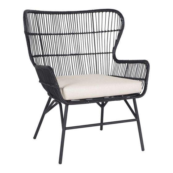 Kubu Black Ratan Chair Armchairs Sofas Chair Apartment Style Chairs Armchairs