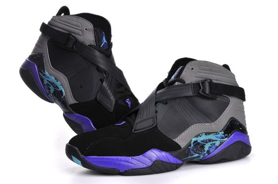 Air Jordan Retro 8 Grey Black Purple