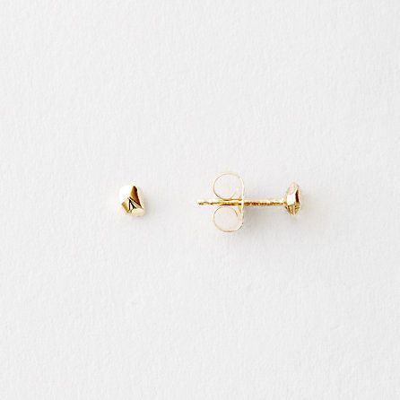 Small Rock Studs - love a good pair of simple yet interesting gold studs