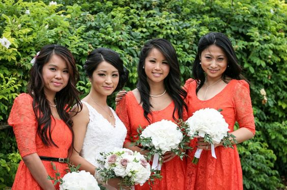 Cheltenham photographers colourful bridesmaids