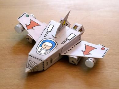 PAPERMAU: Easy-To-Build Spaceships Paper Models For Kids - by Digitprop
