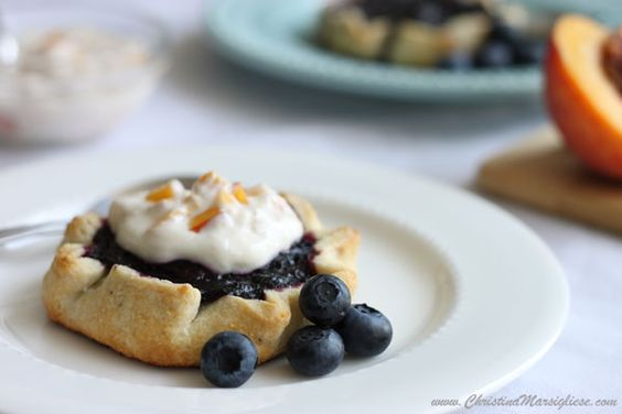 Easy Blueberry Tartlets with Peachy Sour Cream