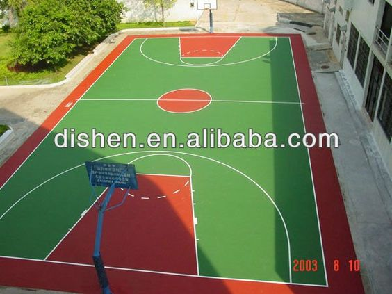 Deportes suelo de materiales para la cancha de baloncesto - Materiales para suelos ...