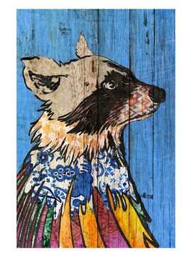 Expensive Raccoon (Framed) from Art on Wood on Gilt: