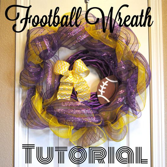 Sew Much More than Rubies: Football Wreath Tutorial