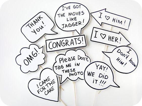 10 Zeichen Photobooth Props Hochzeit von MisterMustache auf Etsy