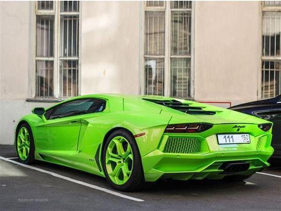 Rare Green Lamborghini Aventador - 01