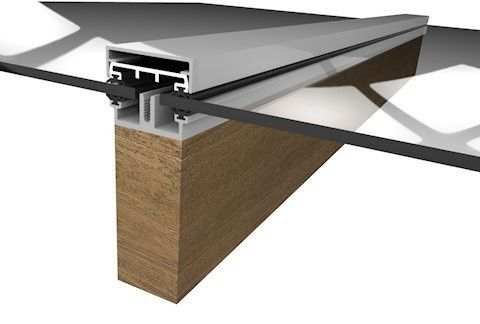 Rafterline Spg1 Type Extruded Aluminium Glazing Bar With Screw On Pc1 Capping And Snap On Cosmetic Square Topped Pc2 Capping Sec Glass Roof Timber Roof Pergola