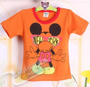 厂家批发儿童休闲短袖T恤纯棉宝宝糖果色童T恤夏季精品汗衫