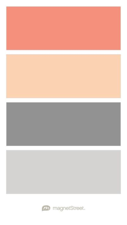 Coral, Peach, Classic Gray, and Color Palette - custom color palette created at MagnetStreet.com