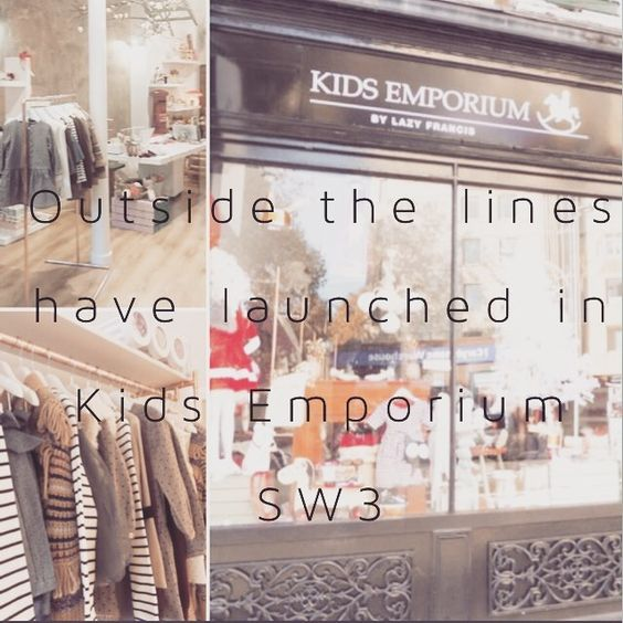 So thrilled to let you know we're now stocked in Kids Emporium by @lazyfrancis  A fabulous new children's wear store on Kings Rd. If you're around SW3 pop down and say hello  #kidsemporium #girlsstyle #lazyfrancis #outsidethelineskids #britishstyle @lazyfrancis