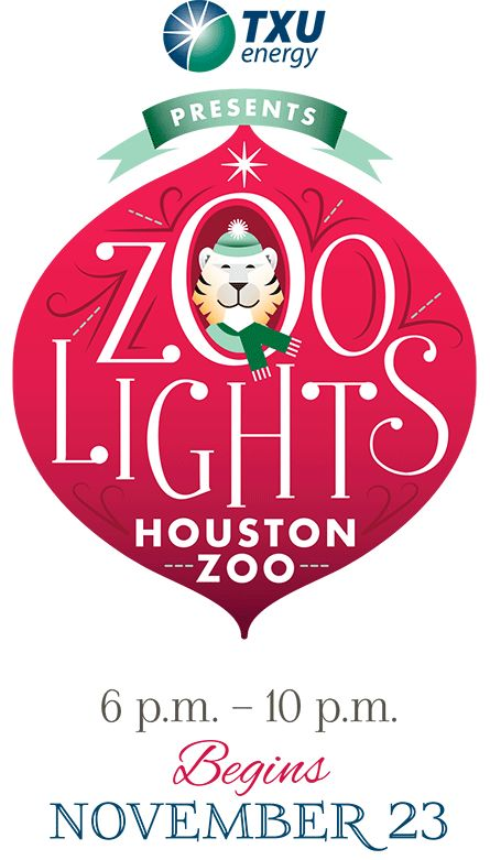 Zoolights at Houston Zoo. Plenty for the whole family! Tickets are $8 for members, $10 for non-members. (One dollar off when you buy online!)