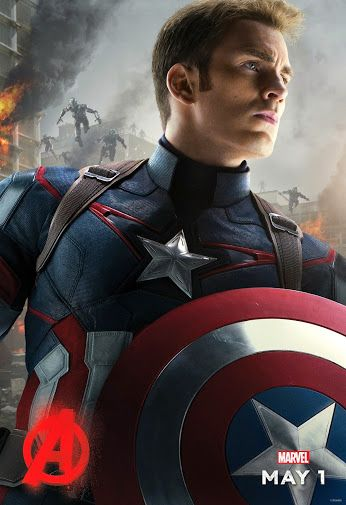 "Captain America. See Marvel's ""Avengers: Age of Ultron in theaters May 1"