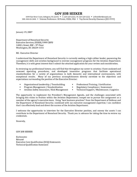 Government Resume Cover Letter Examples - Http://Jobresumesample