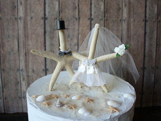 Gâteau de mariage Ivoire-Starfish par MorganTheCreator sur Etsy