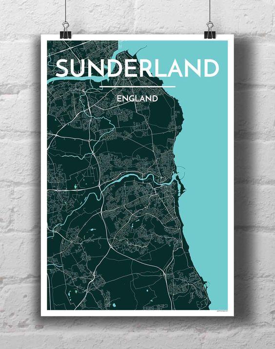 Sunderland City Map