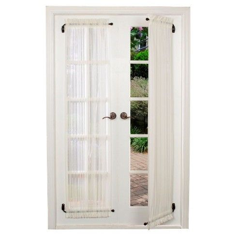 Swing Arm Drapery Rod Versailles Home Fashions Swing Arm Curtain Rods French Doors Interior French Door Curtains