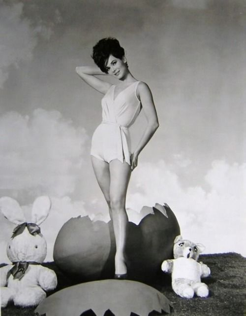 Gila Golan c.1960s    #vintage #easter #pinup: