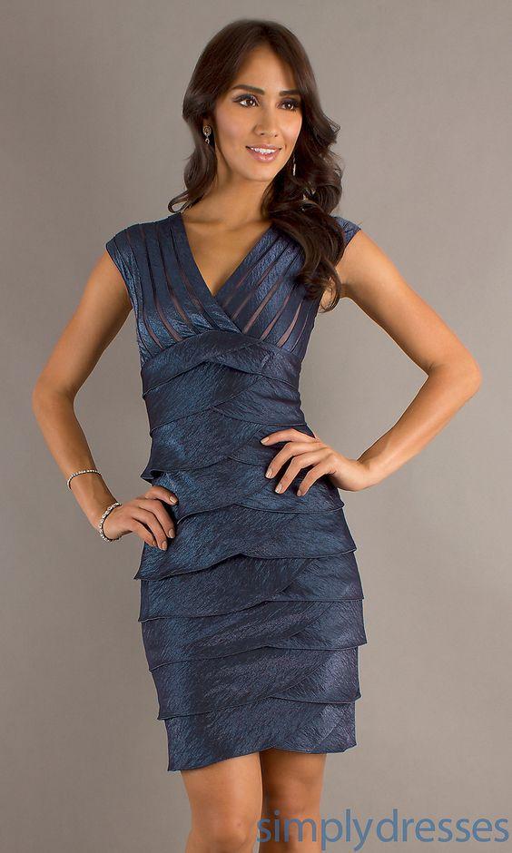 Dress, V-Neck Layered Dress - Simply Dresses--MOG Dress
