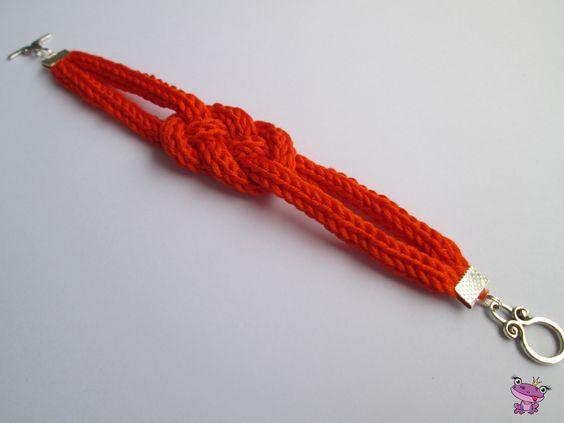 Bracelet Tricotin orange