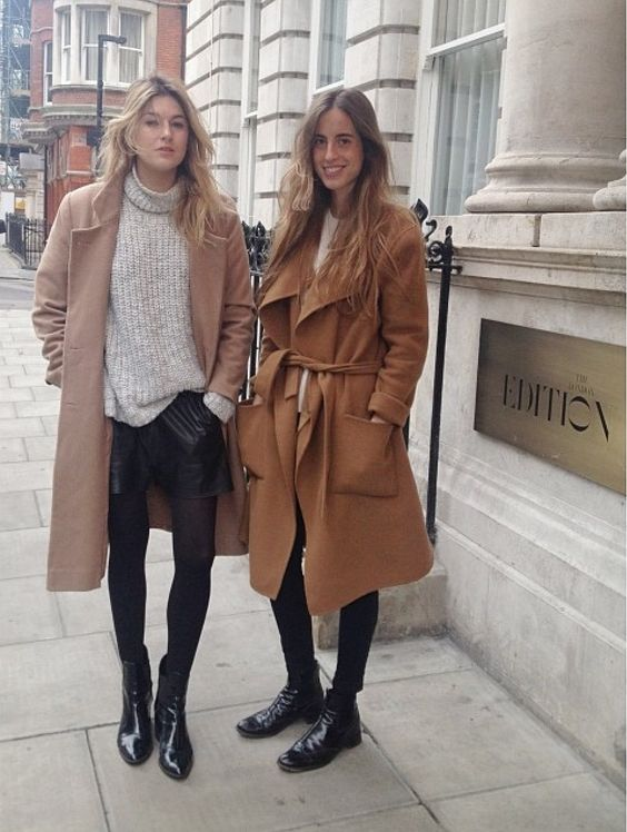 camel coats & booties #style #fashion #streetstyle