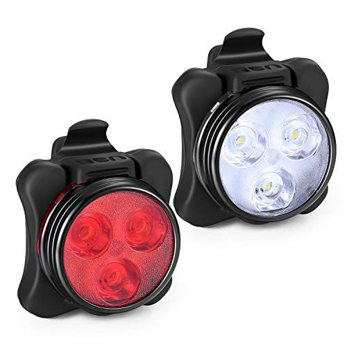 Akale Rechargeable Bike Light Set Super Bright Led Bicycle Lights