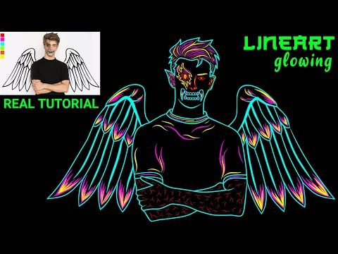 Cara Membuat Line Art Glowing Keren Kekinian Untuk Avee Player Di