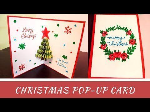 How To Make Easy And Simple 3d Pop Up Christmas Card Diy Christmas Card Tutorial For Ki Christmas Card Tutorials Diy Christmas Cards Card Making Inspiration