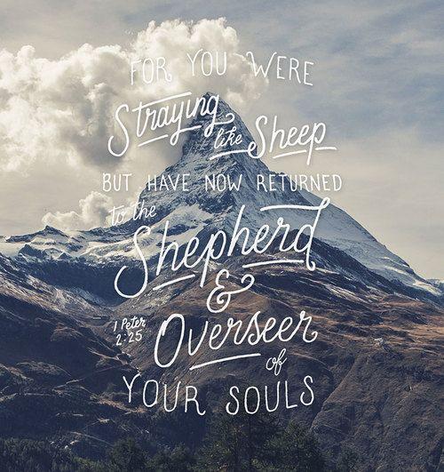 1 Peter 2:25: