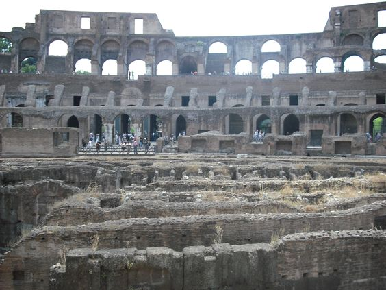 Rome, Italy: inside the Colesseum