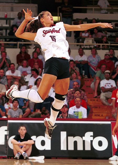 Logan Tom when she played for Stanford. She is a now a pro volleyball player. One of my top 3 vball loves. www.findaballer.com