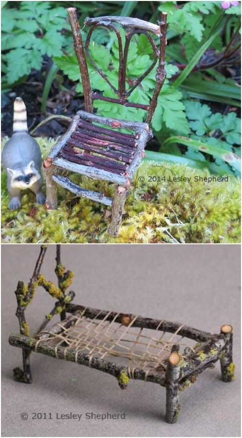 25 Cheap And Easy Diy Home And Garden Projects Using Sticks And Twigs 25 Cheap And Easy Diy Ho Gardening Design Diy Diy Garden Projects Fairy Garden Furniture