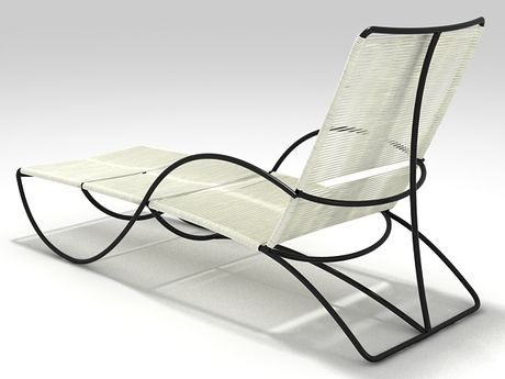 Brown jordan bronze chaise 3d model walter lamb for Brown and jordan chaise
