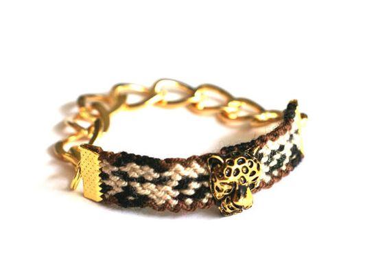 Pulsera impresa leopardo. por makunaima en Etsy, $21.90