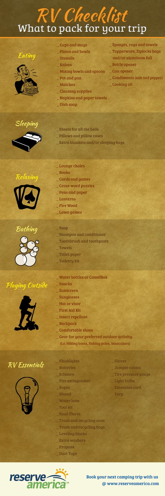 RV Checklist - Infographic    #BringItOn :-))))
