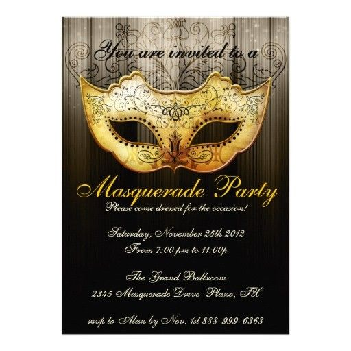 Masquerade Invitation Template – Invitation Templates 2013 - 2014