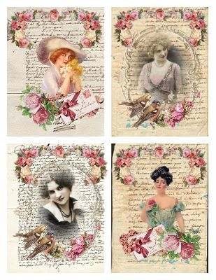 Vintage printable ladies: