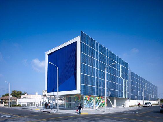 The Amino Leadership High School, in Los Angeles, California, designed by Brooks + Scarpa. Photo: John Linden