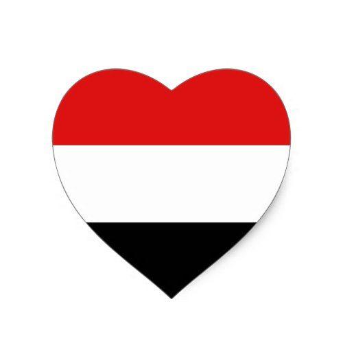 Yemen Flag Heart Sticker Zazzle Com Yemen Flag Heart Stickers Egyptian Flag