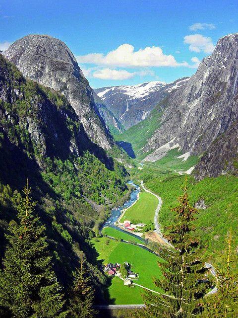 The Gudvangen Valley ,Sognefjord, Norway