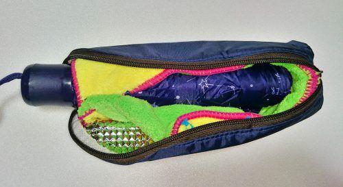 吸水折りたたみ傘カバーの作り方12 折りたたみ 傘 カバー 傘