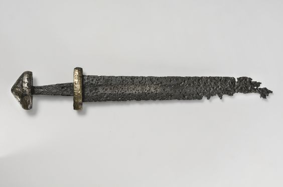 double-edged sword from the Viking Age in Sweden