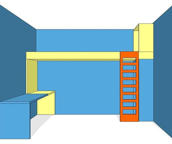 Kinderkamerhoogslaper #hoogslaper #ontwerp #justusfelthuis #paleblue #meubelmaken #interieurbouw #interieurarchitect