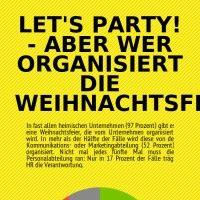 Infographic: Let's party! - Aber wer organisiert die Weihnachtsfeier? | infogr.am