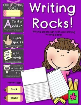 Chevron & Blackboard Classroom Goals Poster Self-Scoring Writing Paper Pencil Name Tags   *****************************************************************************  Customer Tips:    Be the first to know about my new discounts, freebies and product launches:     • Look for the green star next to my store logo and click it  to become a follower.