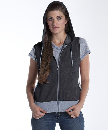Take a look at this Charcoal Mt. Hood French Terry Vest by lur® on #zulily today!