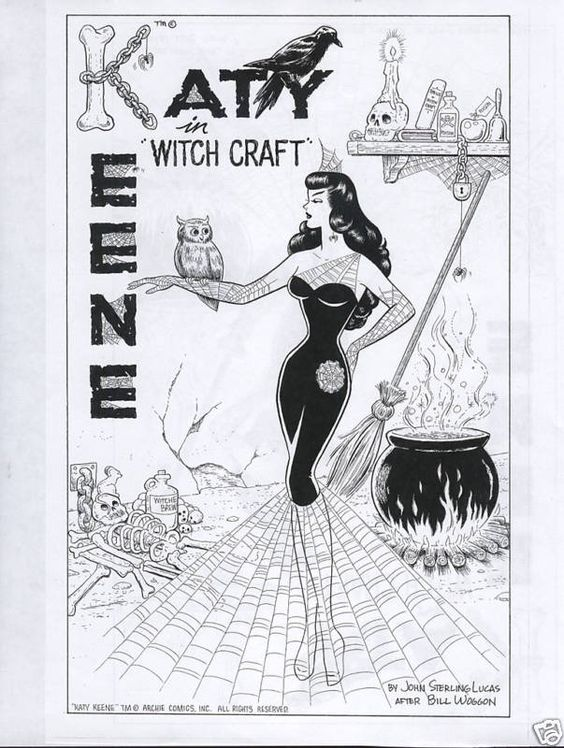John Lucas' tribute to Woggon's Katy Keene witch