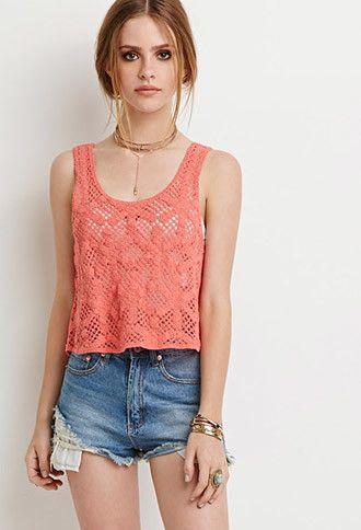 Floral Crochet Crop Top