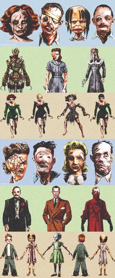 Bioshock concept art Creepy... I love it. I actually wish some of this concept art was used in the game.